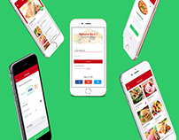 """Splash food"" Mobile app design"