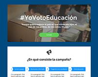 #YoVotoEducación - Website design