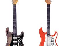 Realistic vector guitars