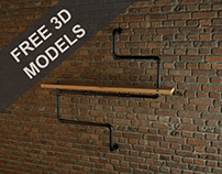 Download Free Pipe Shelves Model