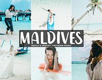 Free Maldives Mobile & Desktop Lightroom Preset