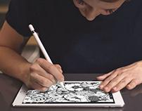 Apple iPad Pro Custom Illustration