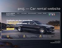 Multi-page site for car rental in Orenburg, Russia.