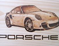 Porsche Woodburning
