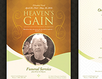 Heaven's Gain - Funeral / Memorial Program