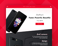 OnePlus 5 Landing Page - my own design
