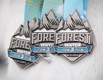 Forest King Trail medal set