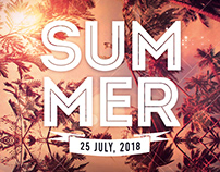 Summer Party – Free PSD Flyer Template
