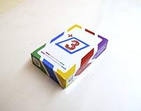 A math card game (+3)