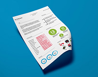Free Flat Infographic Resume Template