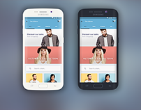 Ecommerce app for android User Interface Design