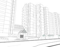Greenhouse Apartments streetscape
