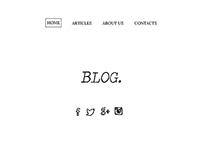 Blog. (Template)