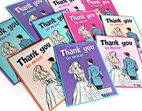 Comic Book Themed Thank You Cards