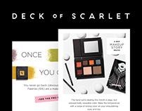 Deck of Scarlet   Email Marketing Design