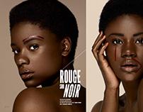 Rouge sur Noir - beauty editorial