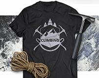T-shirt design for the climber