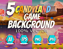 Candyland Game Backgrounds