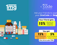 1mg Discount Code, Earn by Referring 1mg Products