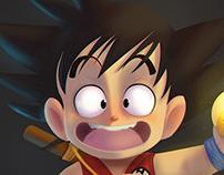 Oi eu sou o Goku!  LineArt : by Ricardo Lira