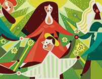 Spring dance - mosaic.