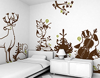 forest animals :: children's wall decals
