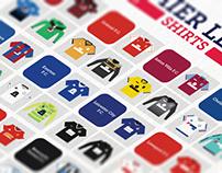 Minimal Premier League shirts poster 15/16