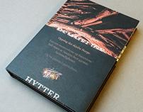 """Bokdesign: """"Hemmelige Hytter"""" (Secret Cabins)"""