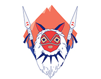 Princess Mononoke alternative illustration