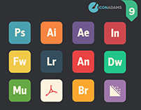 Flat Adobe iCons CC 2016