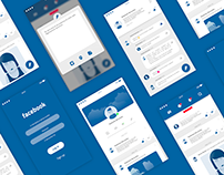Facebook mobile app client UI