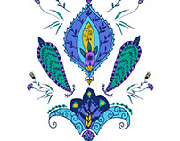 Morrocan Dreams: Paisley Placement Print