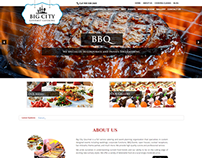 Word press website design for Big city catering