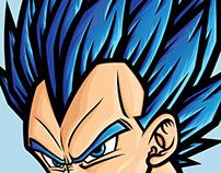 Super Saiyan Blue Vegeta Posters