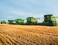 John Deere Combine Harvest