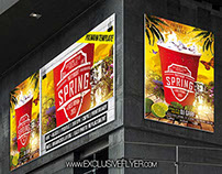 Spring Party Night – Premium Flyer Template