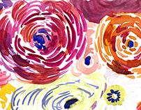 Sketchbook Spring Watercolor Florals