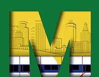 Metro Green Line Poster
