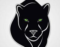 Black puma vector image.