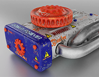 Texture Practice: Engine/Exhaust Pipe