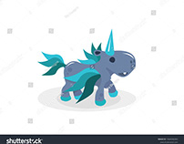 Unicorn with wings