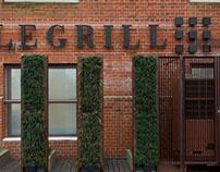 Le Grill Restaurant, diseño de cartelería