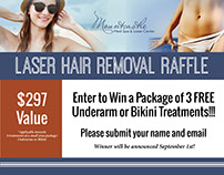 Mountcastle Med Spa Raffle Flyer & Videos