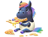 Rainbow Horse sticker pack for Apple