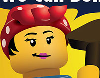 Pink Lego League poster