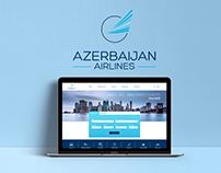 Azerbaijan Airlines Landing Page Idea