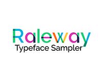 Raleway : Typeface Sampler