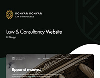 Konyar Konyar Law & Consultancy UI Design