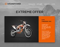 Motocross Dealer Landing Page