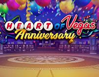 Heart Of Vegas Anniversary slot